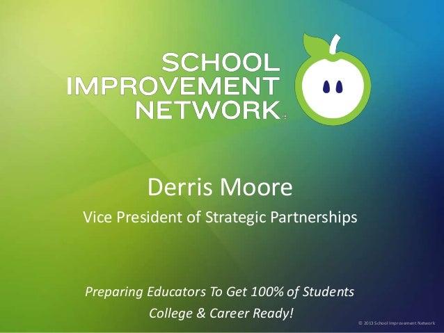 Derris MooreVice President of Strategic Partnerships                                                                      ...