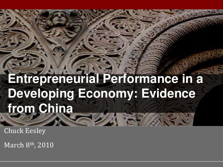 Performance in a Developing Economy                                     Entrepreneurial Performance in a                  ...