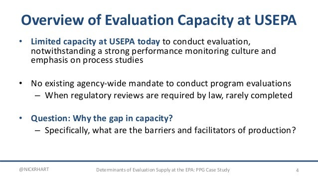 Performance Partnership Case Presentation: Evaluation @Epa