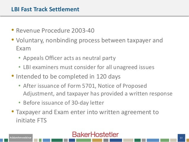 Webinar Slides Jousting With The Irs Handling Federal Tax Controve