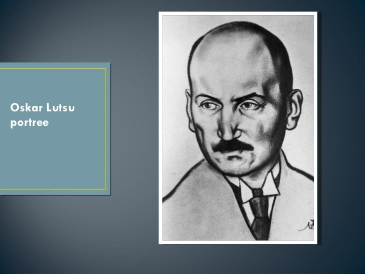 Oskar Lutsu portree