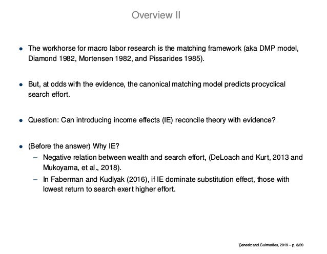 Income Effects and the Cyclicality of Job Search Effort Slide 3