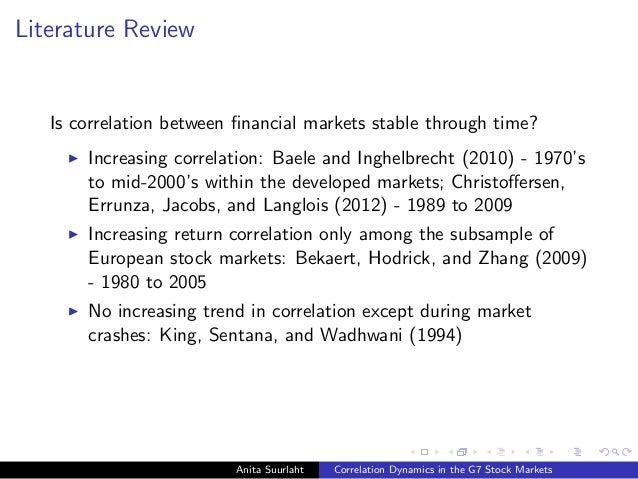 Anita Suurlaht (UCD School of Business). Correlation Dynamics in the G7 Stock Markets Slide 3