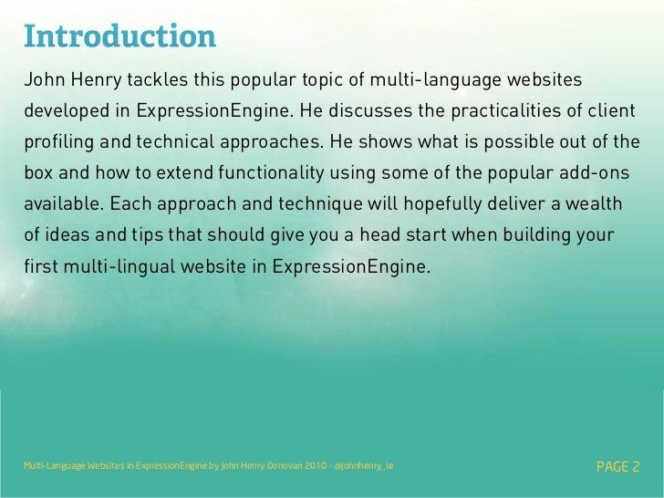 Multi-Language Websites in ExpressionEngine Slide 2