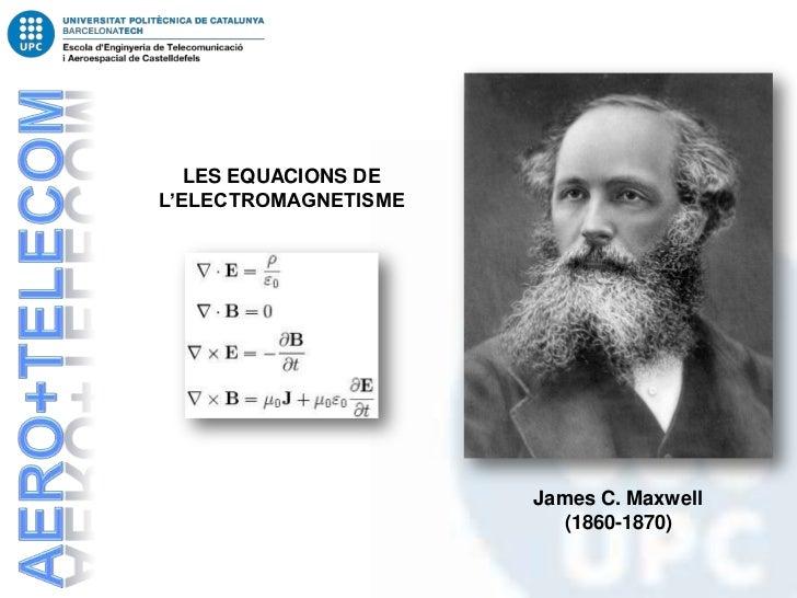 LES EQUACIONS DEL'ELECTROMAGNETISME                      James C. Maxwell                        (1860-1870)