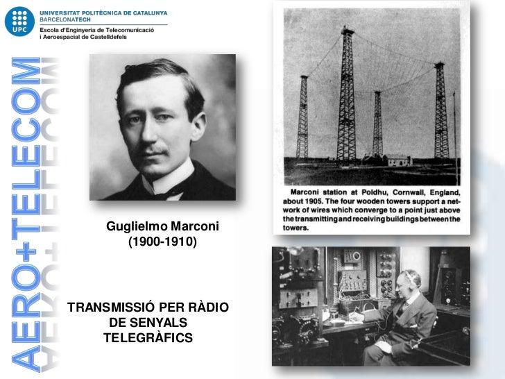 Guglielmo Marconi       (1900-1910)TRANSMISSIÓ PER RÀDIO     DE SENYALS    TELEGRÀFICS