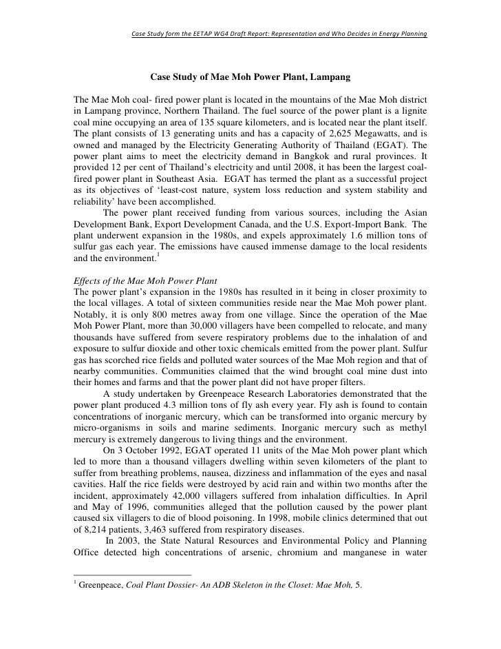 Case Study form the EETAP WG4 Draft Report: Representation and Who Decides in Energy Planning                           Ca...