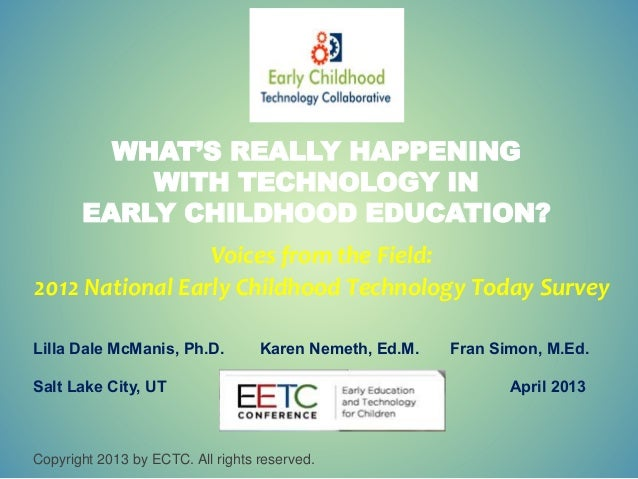 Technology in Early Childhood Education  Early Childhood Technology