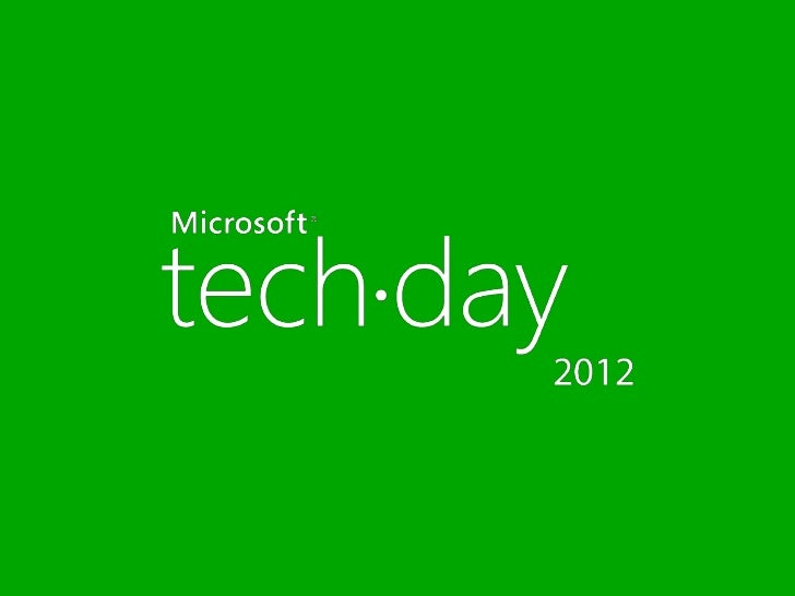 #techday2012