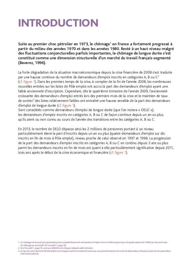 9 INTRODUCTION / ÉTUDES ET RECHERCHES ÉVOLUTION DU NOMBRE DE DEFM A, B OU C (EFFECTIF) ET DE LA PART DES DELD (%) DEPUIS ...