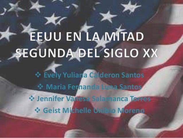  Evely Yuliana Calderon Santos  Maria Fernanda Luna Santos  Jennifer Vanesa Salamanca Torres  Geist Michelle Unibio Mo...