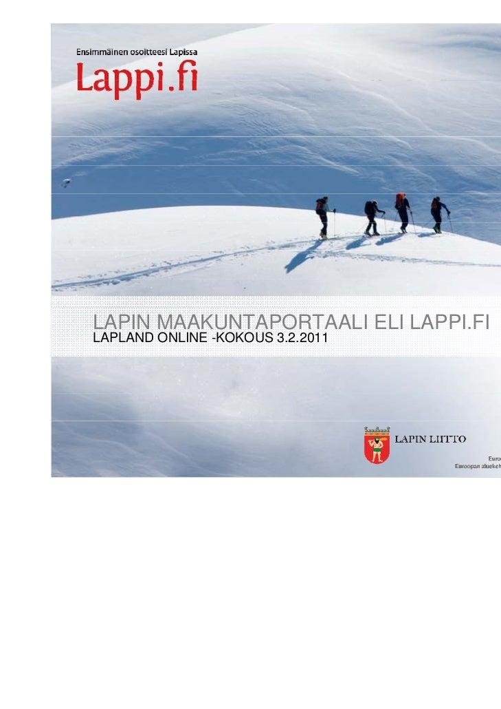 LAPIN MAAKUNTAPORTAALI ELI LAPPI.FILAPLAND ONLINE -KOKOUS 3.2.2011