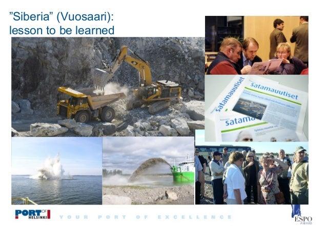 """Siberia"" (Vuosaari): lesson to be learned"