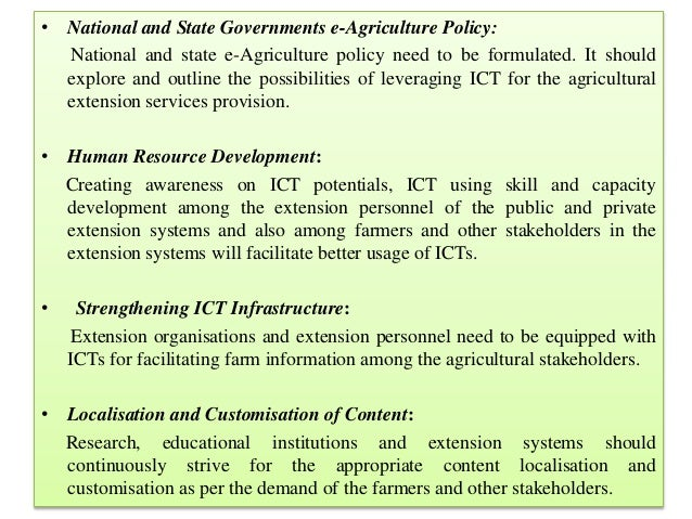 ICT Extension approaches-pre-requisites Information and ...