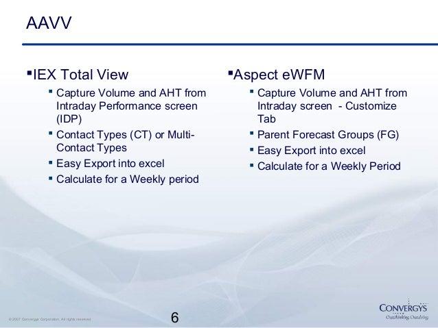 Performance Measurements for WFM Processes - Convergys