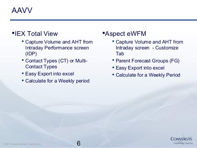 Performance Measurements for WFM Processes - Convergys