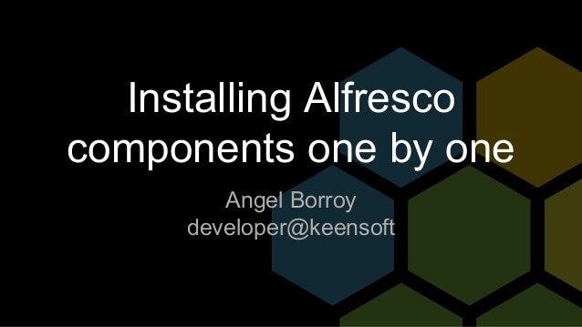 Ef09 installing-alfresco-components-1-by-1