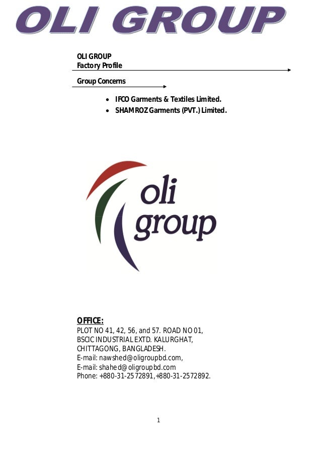Factory Profile for oli group