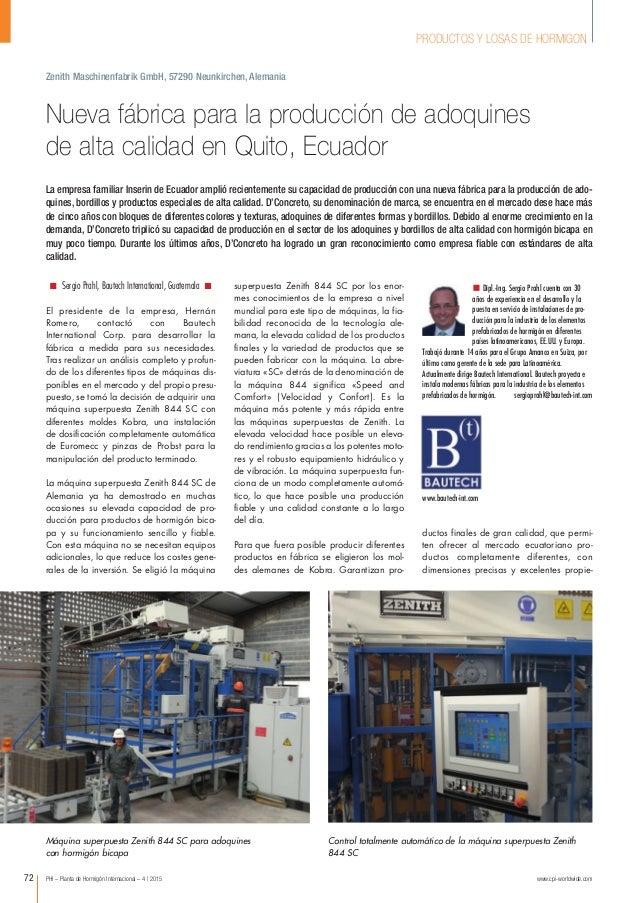 PHI – Planta de Hormigón Internacional – 4 | 2015 www.cpi-worldwide.com72 PRODUCTOS Y LOSAS DE HORMIGON Sergio Prahl, Baut...