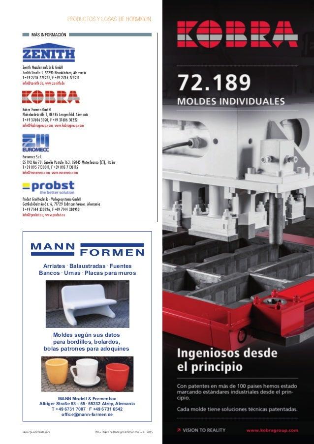 www.cpi-worldwide.com PHI – Planta de Hormigón Internacional – 4 | 2015 PRODUCTOS Y LOSAS DE HORMIGON Zenith Maschinenfabr...