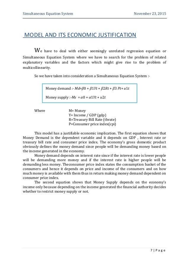 ECONOMETRICS PROJECT PG2 2015