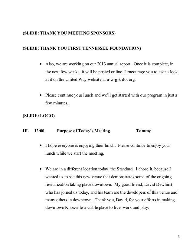 FINAL 2014 Annual Meeting Script