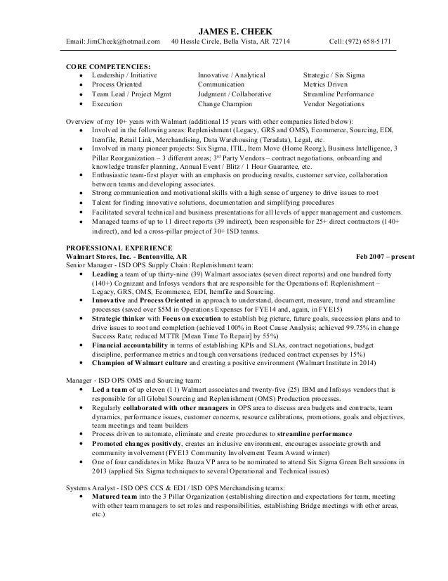 resume james cheek 2015