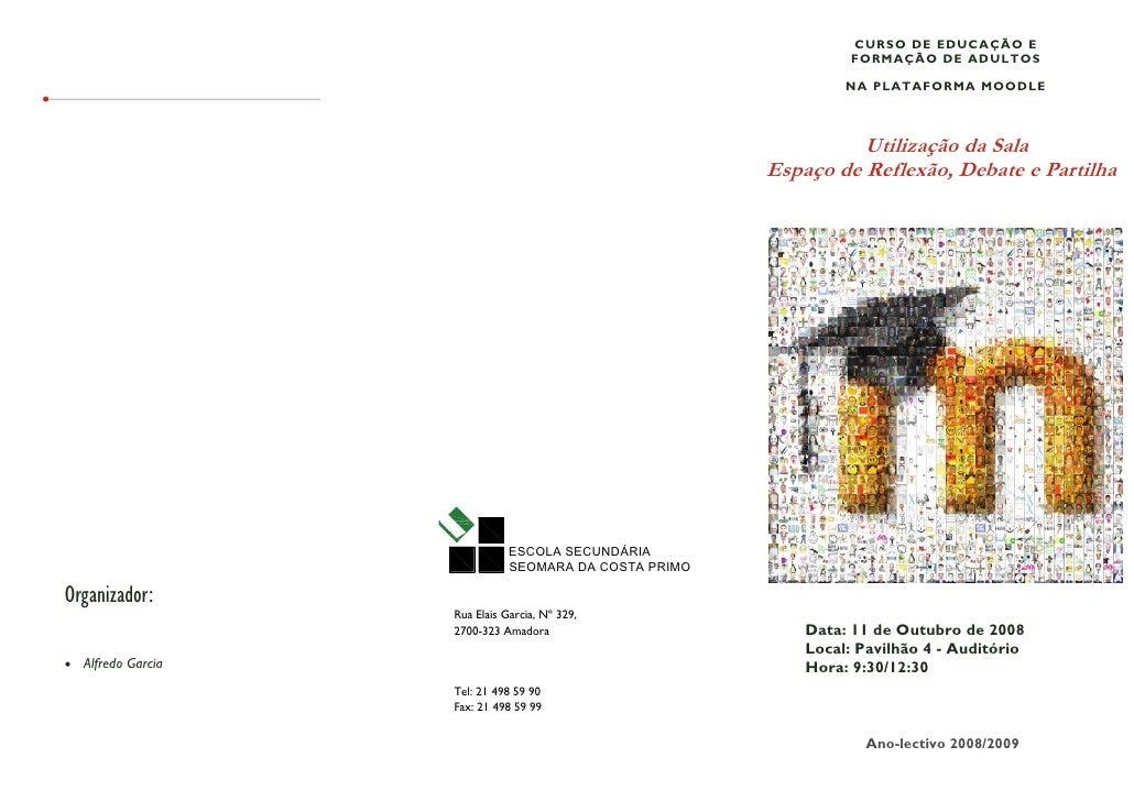 CURSO DE EDUCAÇÃO E                                                                  FORMAÇÃO DE ADULTOS                  ...