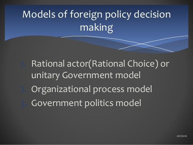 foreign policy models
