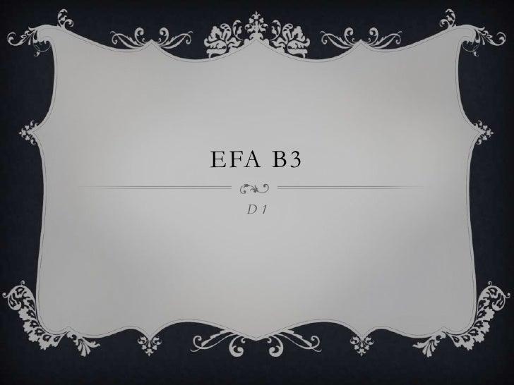 EFA B3  D1
