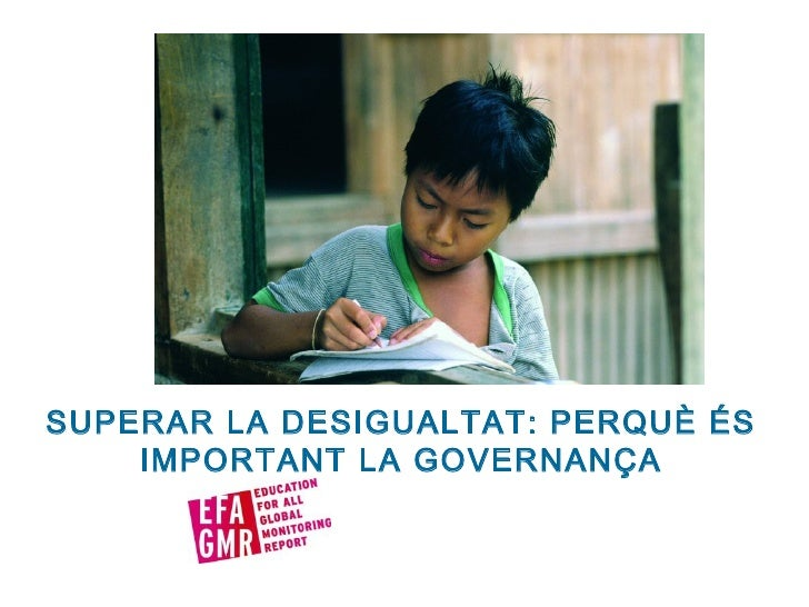 SUPERAR LA DESIGUALTAT: PERQUÈ ÉS IMPORTANT LA GOVERNANÇA