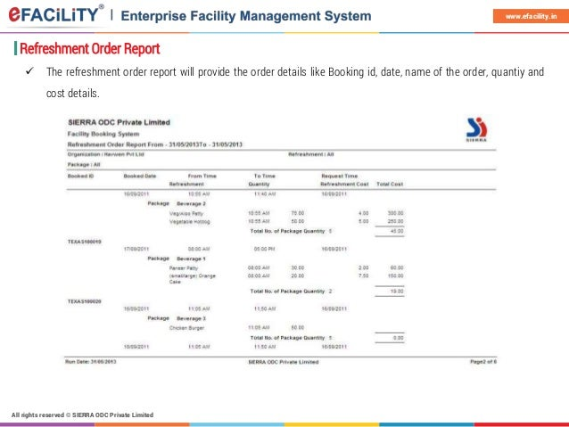 eFACiLiTY Facility Booking System