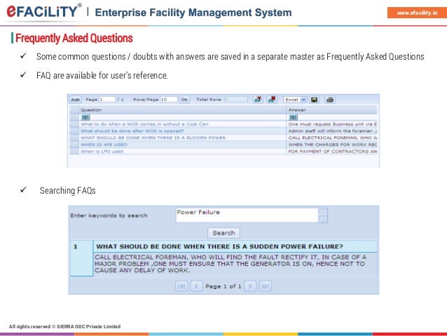 eFACiLiTY Helpdesk and Knowledge Base System