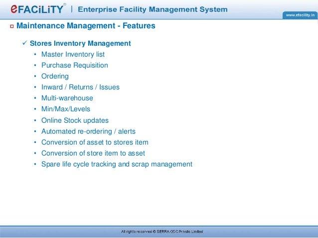 Efacility Maintenance Management System