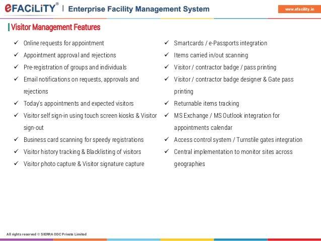 Efacility Visitor Management System