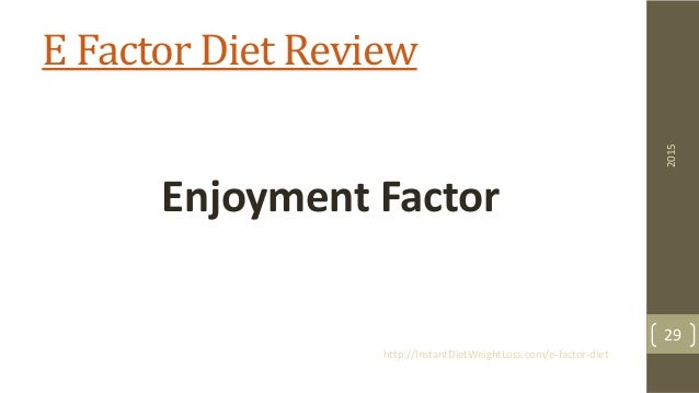E-Factor Diet Review – Is John Rowley's Weight Loss Program Worth It?