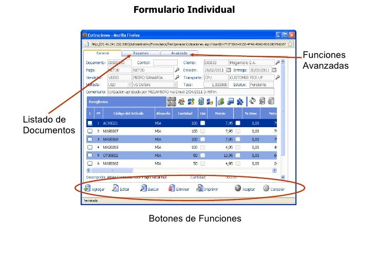 Formulario Individual                                       Funciones                                       AvanzadasLista...