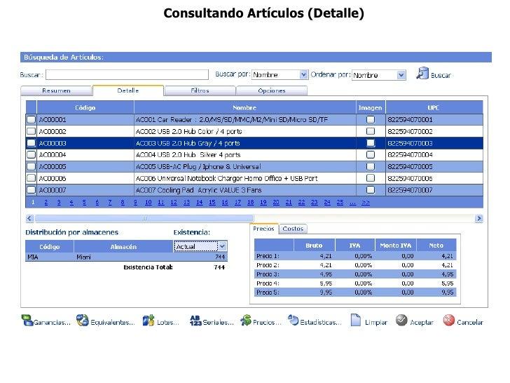 Consultando Artículos (Detalle)