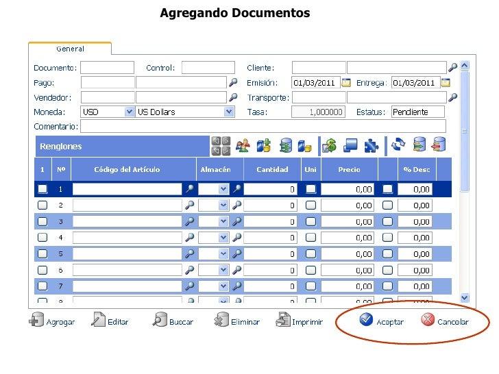 Agregando Documentos