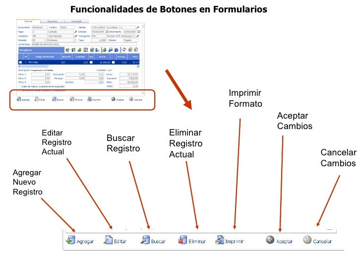 Funcionalidades de Botones en Formularios                                              Imprimir                           ...