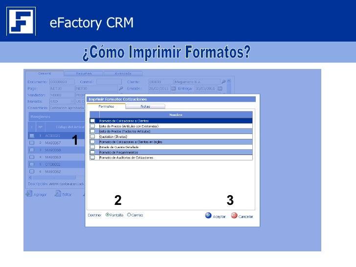 eFactory CRM   1         2     3