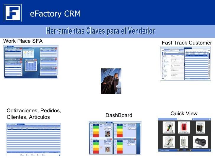 eFactory CRMWork Place SFA                        Fast Track Customer Cotizaciones, Pedidos,                          Dash...
