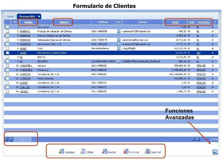 Formulario de Clientes                         Funciones                         Avanzadas