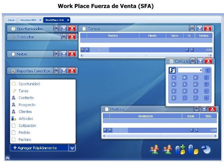 Work Place Fuerza de Venta (SFA)
