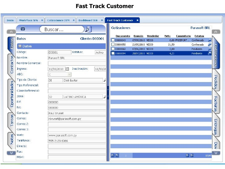 Fast Track Customer
