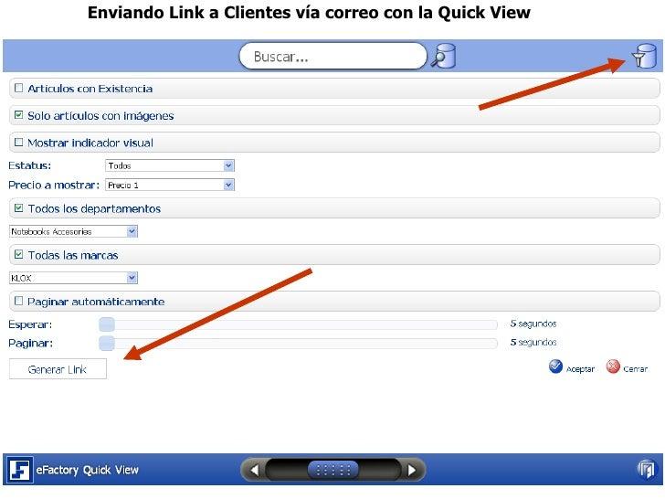 Enviando Link a Clientes vía correo con la Quick View