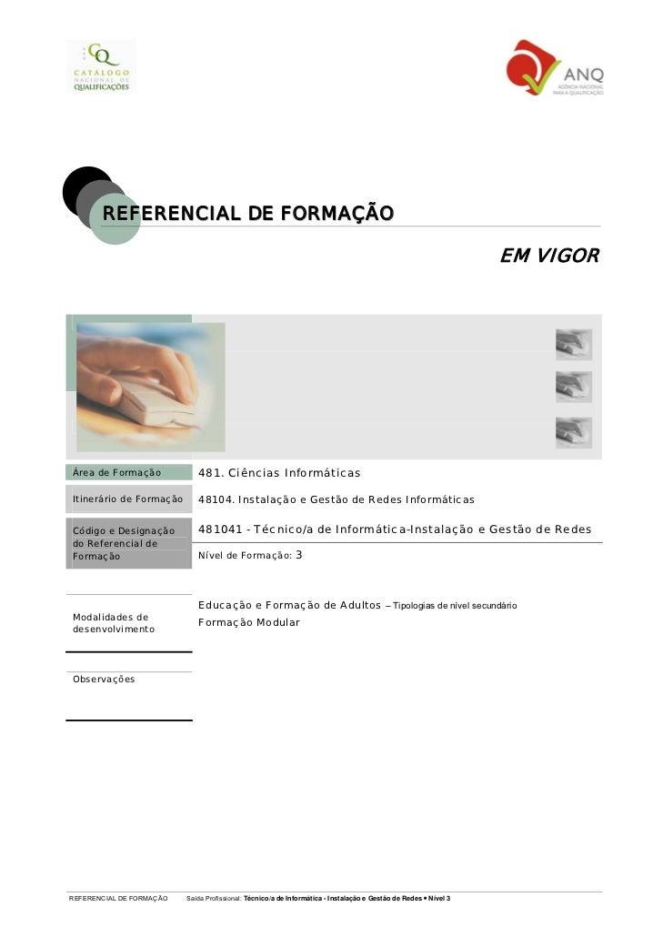 REFERENCIAL DE FORMAÇÃO                                                                                                   ...