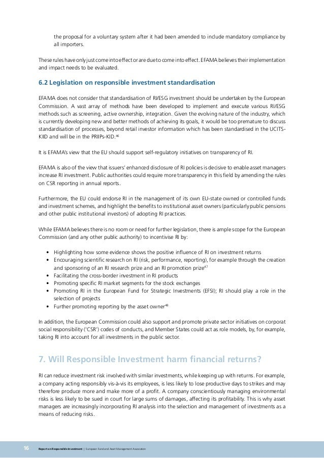 responsible investment report example