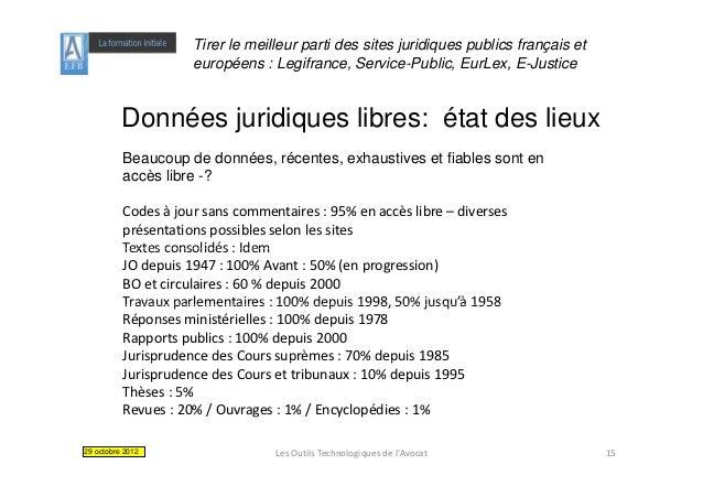 Tirer le meilleur parti des sites juridiques publics français et                     européens : Legifrance, Service-Publi...