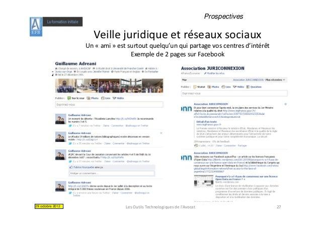 Prospectives                          Veillejuridiqueetréseauxsociaux                          Veille juridique et rés...